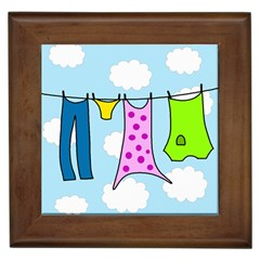 Laundry Framed Tiles by Valentinaart