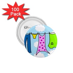 Laundry 1 75  Buttons (100 Pack)  by Valentinaart
