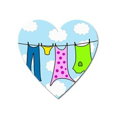 Laundry Heart Magnet by Valentinaart