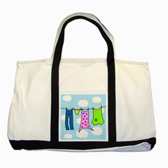 Laundry Two Tone Tote Bag by Valentinaart