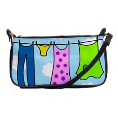 Laundry Shoulder Clutch Bags by Valentinaart