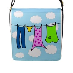 Laundry Flap Messenger Bag (l)  by Valentinaart