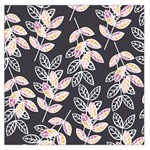 Winter Foliage Large Satin Scarf (Square) Front