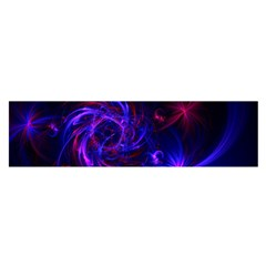 Pink, Red And Blue Swirl Fractal Satin Scarf (oblong)