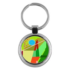 Colorful Abstraction Key Chains (round)  by Valentinaart