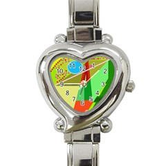 Colorful Abstraction Heart Italian Charm Watch by Valentinaart