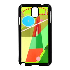 Colorful Abstraction Samsung Galaxy Note 3 Neo Hardshell Case (black) by Valentinaart
