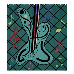 Blue Guitar Shower Curtain 66  X 72  (large)  by Valentinaart