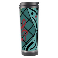 Blue Guitar Travel Tumbler by Valentinaart