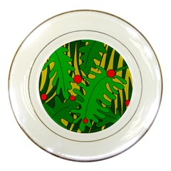 In The Jungle Porcelain Plates by Valentinaart