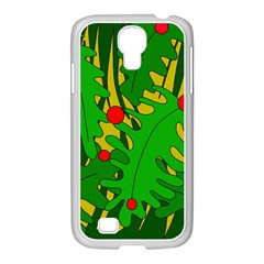 In The Jungle Samsung Galaxy S4 I9500/ I9505 Case (white) by Valentinaart