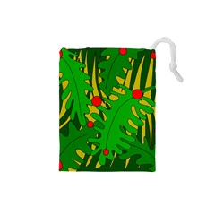 In The Jungle Drawstring Pouches (small)  by Valentinaart
