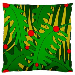 In The Jungle Large Flano Cushion Case (one Side) by Valentinaart
