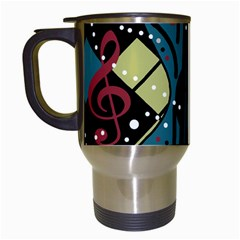 Playful Guitar Travel Mugs (white) by Valentinaart