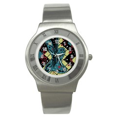 Playful Guitar Stainless Steel Watch by Valentinaart