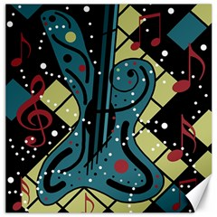 Playful Guitar Canvas 20  X 20   by Valentinaart