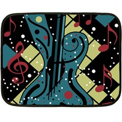 Playful Guitar Fleece Blanket (mini) by Valentinaart