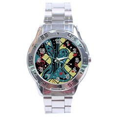 Playful Guitar Stainless Steel Analogue Watch by Valentinaart