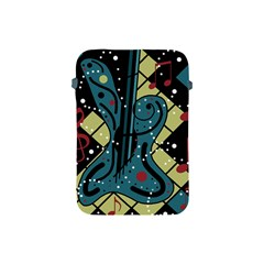 Playful Guitar Apple Ipad Mini Protective Soft Cases by Valentinaart