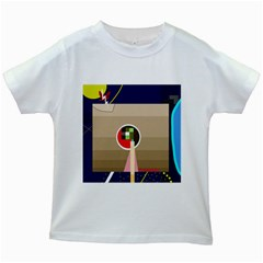 Decorative Abstraction Kids White T Shirts by Valentinaart
