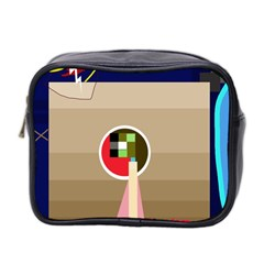 Decorative Abstraction Mini Toiletries Bag 2 Side