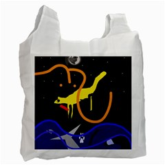 Crazy Dream Recycle Bag (one Side) by Valentinaart