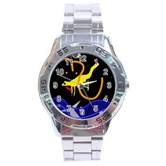 Crazy Dream Stainless Steel Analogue Watch by Valentinaart