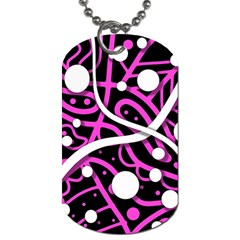 Purple Harmony Dog Tag (one Side) by Valentinaart