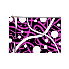 Purple Harmony Cosmetic Bag (large)  by Valentinaart