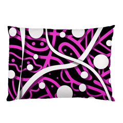 Purple Harmony Pillow Case (two Sides) by Valentinaart