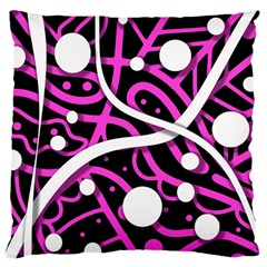 Purple Harmony Large Cushion Case (two Sides) by Valentinaart