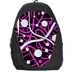 Purple Harmony Backpack Bag by Valentinaart