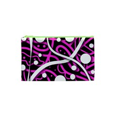 Purple Harmony Cosmetic Bag (xs) by Valentinaart