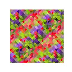 Colorful Mosaic Small Satin Scarf (square) by DanaeStudio