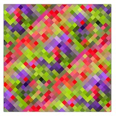 Colorful Mosaic Large Satin Scarf (square) by DanaeStudio
