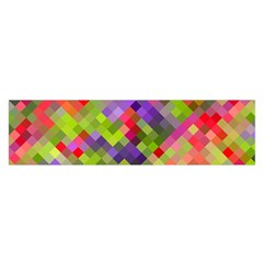 Colorful Mosaic Satin Scarf (oblong) by DanaeStudio