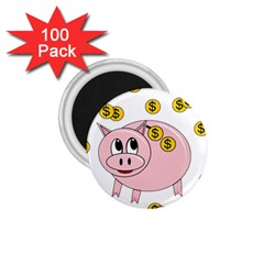 Piggy Bank  1 75  Magnets (100 Pack)  by Valentinaart