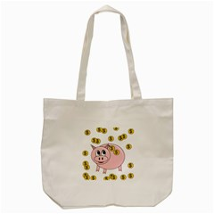 Piggy Bank  Tote Bag (cream) by Valentinaart