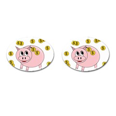 Piggy Bank  Cufflinks (oval) by Valentinaart