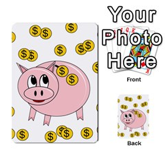 Piggy Bank  Multi Purpose Cards (rectangle)  by Valentinaart