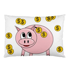 Piggy Bank  Pillow Case (two Sides) by Valentinaart
