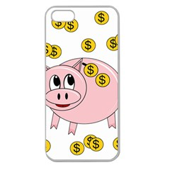 Piggy Bank  Apple Seamless Iphone 5 Case (clear) by Valentinaart