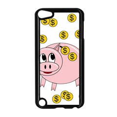 Piggy Bank  Apple Ipod Touch 5 Case (black) by Valentinaart