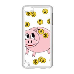 Piggy Bank  Apple Ipod Touch 5 Case (white) by Valentinaart