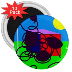Sunny Day 3  Magnets (10 Pack)