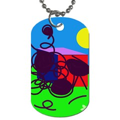 Sunny Day Dog Tag (one Side)