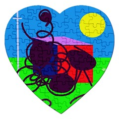 Sunny Day Jigsaw Puzzle (heart) by Valentinaart