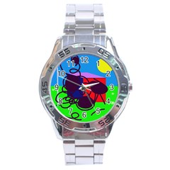 Sunny Day Stainless Steel Analogue Watch by Valentinaart
