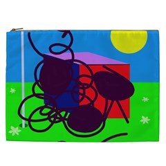 Sunny Day Cosmetic Bag (xxl)  by Valentinaart