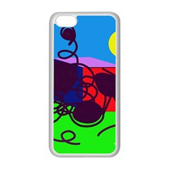 Sunny Day Apple Iphone 5c Seamless Case (white) by Valentinaart